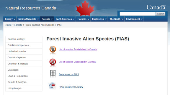 Forest Invasive Alien Species (FIAS)